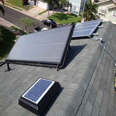 Home off-grid solar system